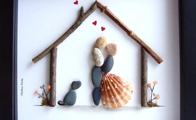 Unique Wedding Gift Customized Wedding Gift Pebble Art Unique
