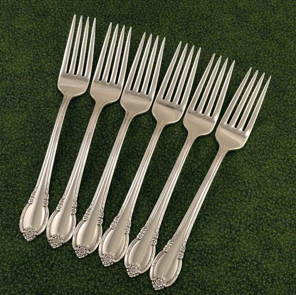6 Dinner Forks 1847 Rogers Bros Remembrance Vintage 1948