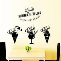Wall Decals Ice Cream Summer Feeling Kitchen by VinylDecals2U