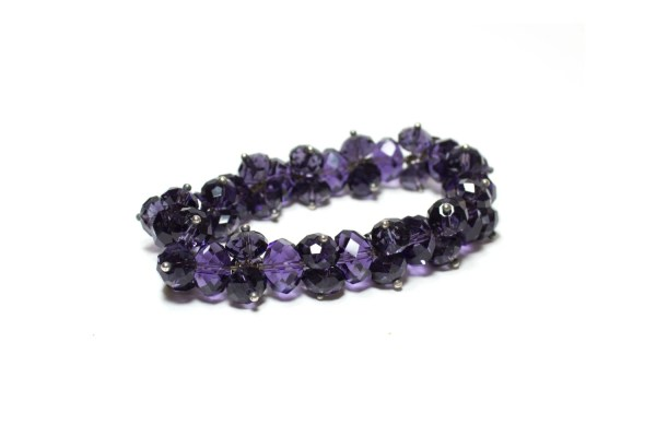 Purple Swarovski Bracelet Crystal Dark