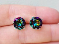 Rainbow Stud Earrings Rainbow Swarovski Crystal Stud