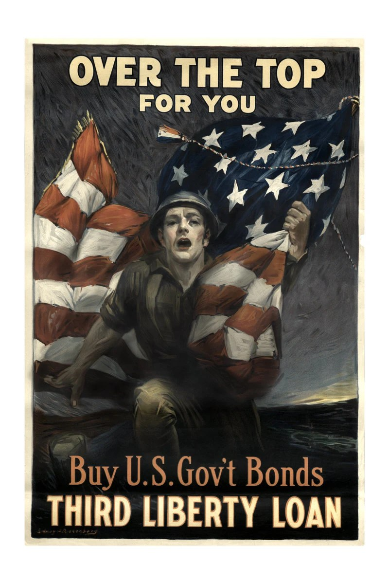 Liberty Bonds WWI World War One Soldier Propaganda Poster