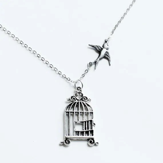 Items similar to Graduation Necklace Jewelry, Freedom Bird