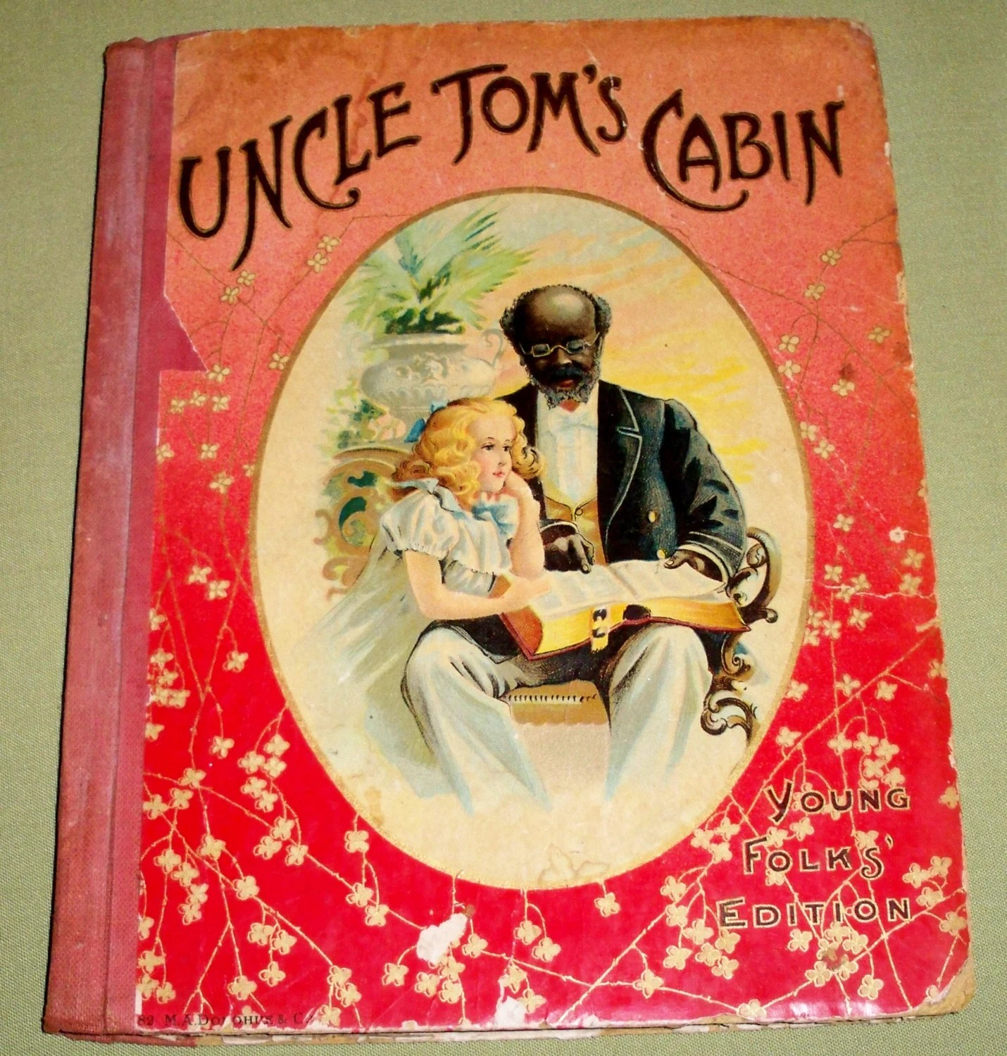 Uncle Tom S Cabin Young Folks Edition Antique Book