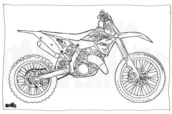 Coloration adulte Page Illustration de moto Moto Coloriage