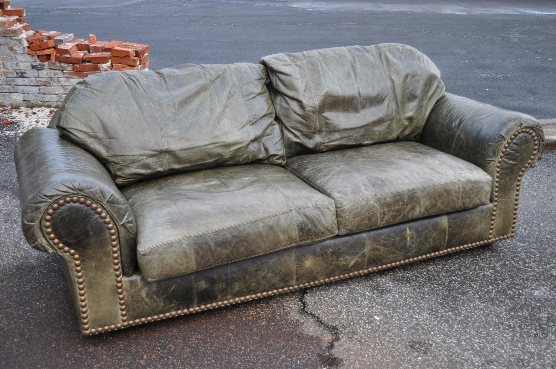 ferguson copeland leather sofa restoration hardware belgian classic roll arm slipcovered ltd distressed green