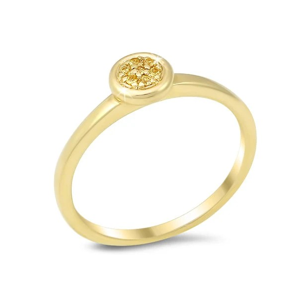 Items similar to Simple Stackable Promise Ring w/ Yellow