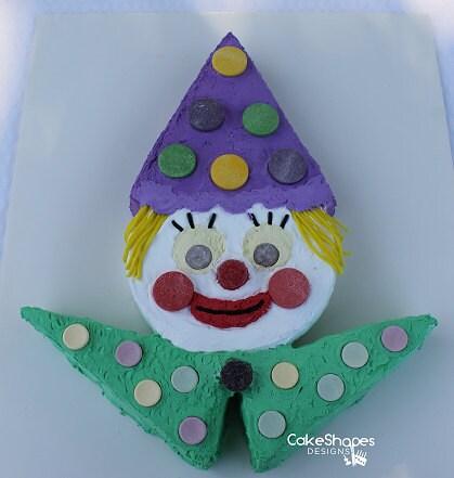 Clown Cut Up Cake Pattern