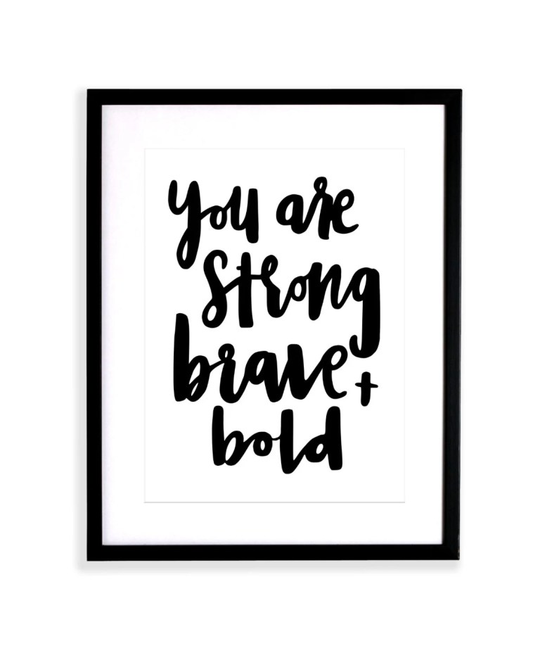 Brush lettering quote han...