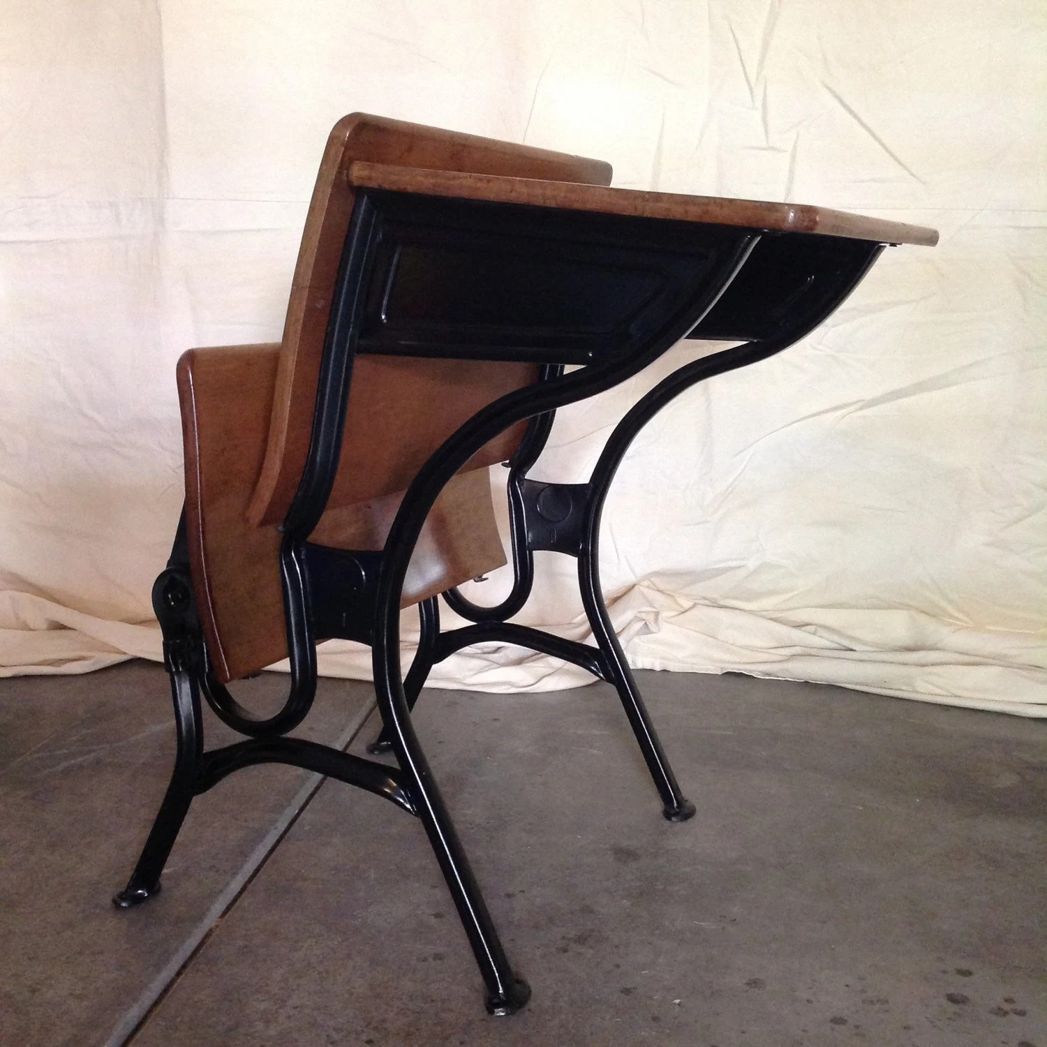 vintage school desk chair combo oversized anywhere american seating company