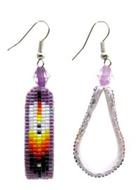 Beaded Feather Earrings by BeadingWild on Etsy