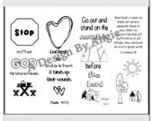 Camping or Mountain theme VBS Coloring Bookmarkfor