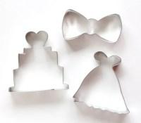 Wedding Cookie Cutter Set, Wedding Dress Cookie Cutter ...