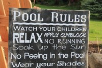 Pool Rules Sign Custom backyard decor Extra Large by Wildoaks