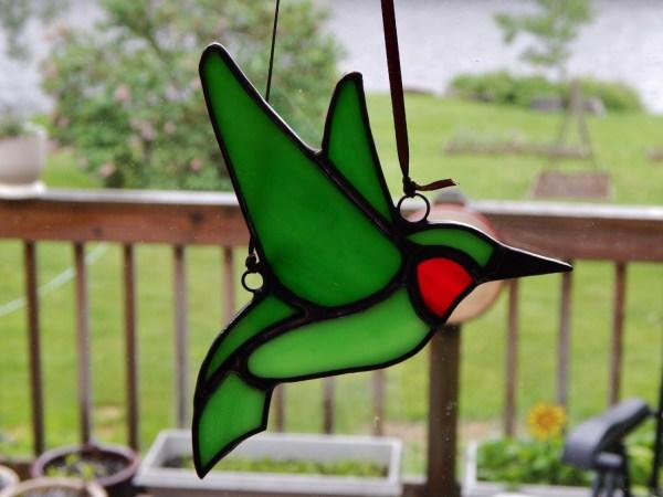 Stained Glass Hummingbird Suncatcher Redfordglassstudio