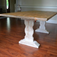 Whitewash Kitchen Table Maid Cabinets Farm Dining Reclaimed Wood