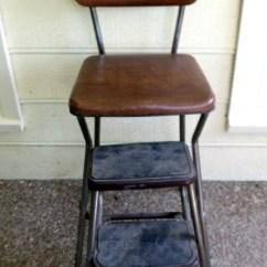 Cosco Step Stool Chair World Market Anna Vintage Folding Kitchen Brown Vinyl