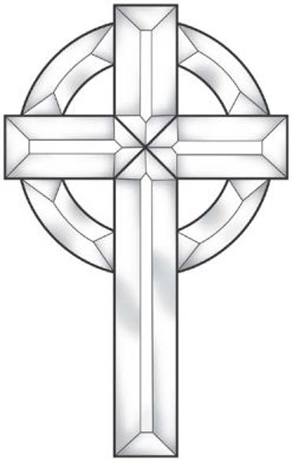 Stained Glass Supplies Large Celtic Cross Bevel Cluster EC152