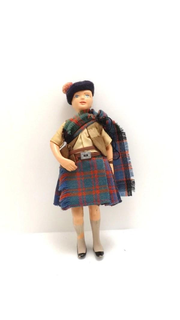 Rare Vintage Antique Scotland Scottish Scotsman Doll With Clan
