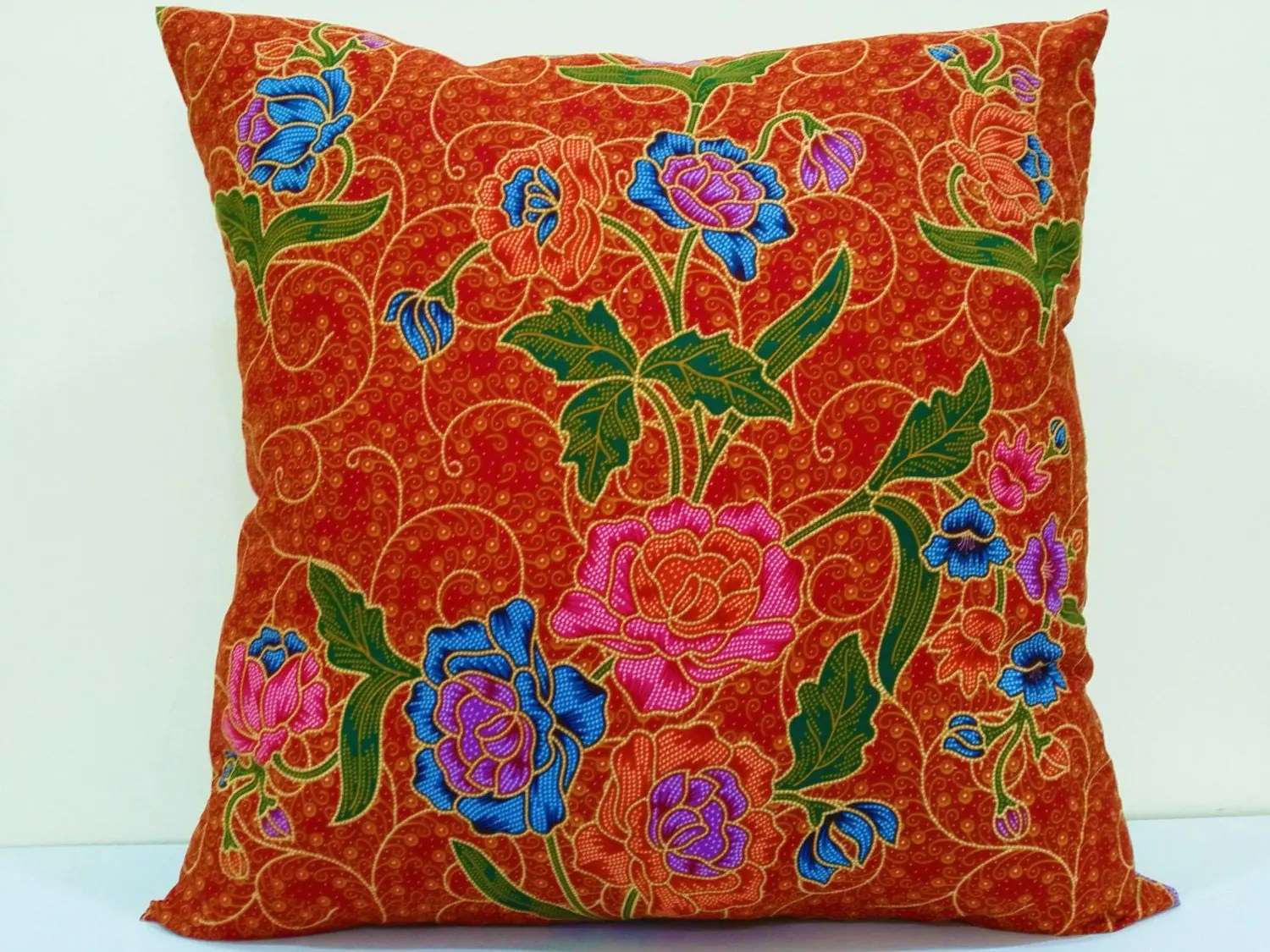 bright colored sofa pillows most comfortable bed ever orange throw 18 x decorative