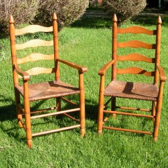 Wicker Ladder Back Chairs Mity Lite Chair Cart Set Of Two Vintage Ladderback Charis  1950s Heavy