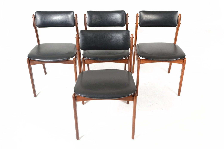 erik buck chairs media room set of four danish mid century modern model 49