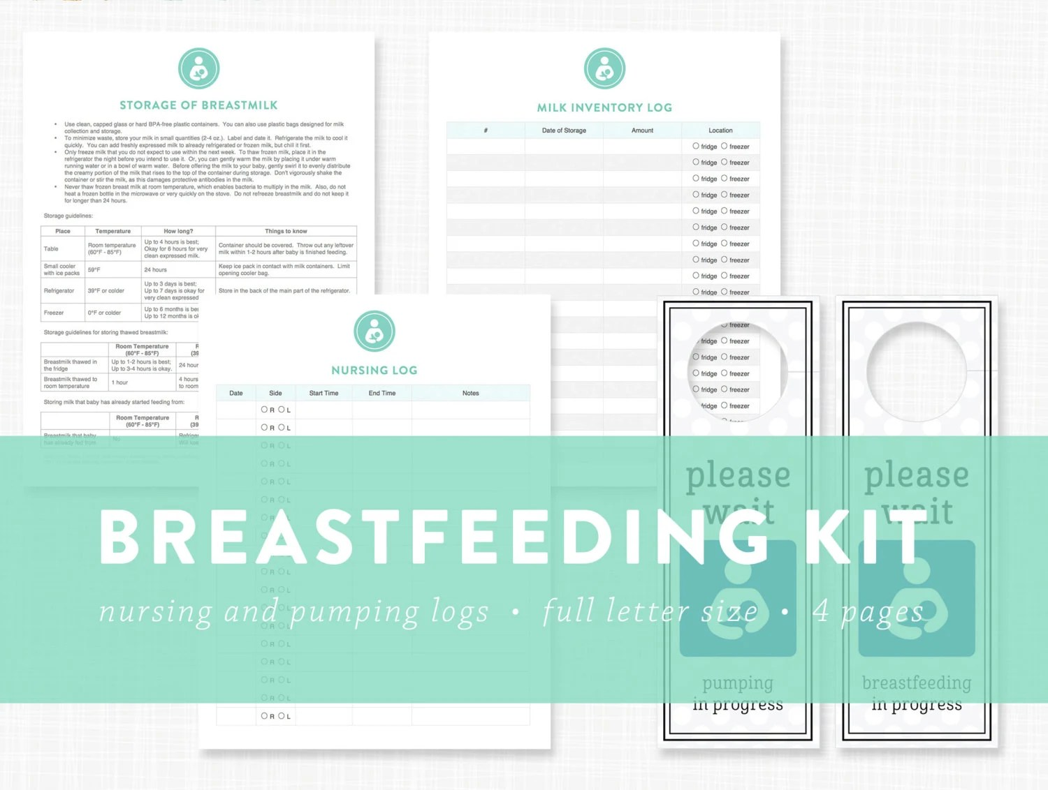 Editable Breastfeeding Pumping Printables Breast Milk