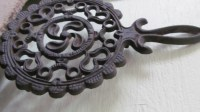 Cast Iron Trivet Cast Iron Pot Holder Antique by
