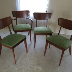 Heywood Wakefield Dining Table And Chairs Target Lawn Chair Vintage 3 Armless 1 Armed