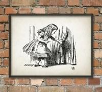 Alice in Wonderland Wall Art Poster Nursery Home Decor AL2