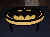 Handmade Batman Coffee Table DC Comics Dark Knight Man Cave