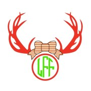 antlers with bow and monogram decal