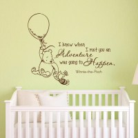 Wall Decals Quotes Classic Winnie the Pooh I Knew by ...
