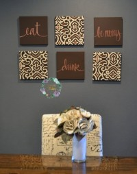 Eat Drink & Be Merry Wall Art Set Custom Canvas Wall Hangings