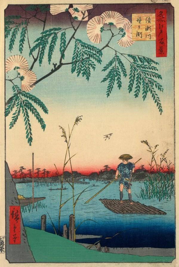 Utagawa Ando Hiroshige Ayase River