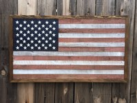 Rustic American Flag 3 Weathered Wall Art Man Cave Wall