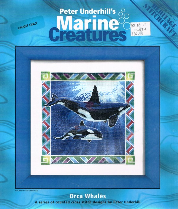 Ccs Heritage Stitchcraft Orca Whales Counted Cross Stitch