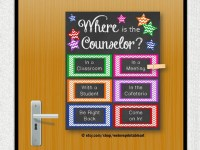 school counselor door decorations | just b.CAUSE