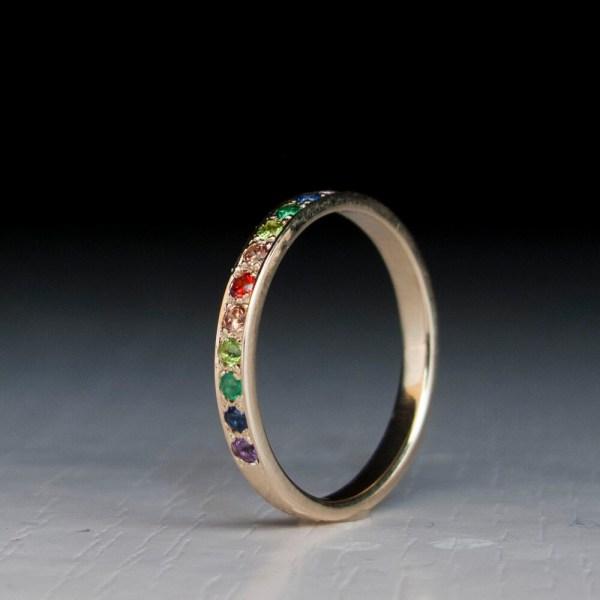 Eternity Gold Ring Sapphire Citrine Peridot