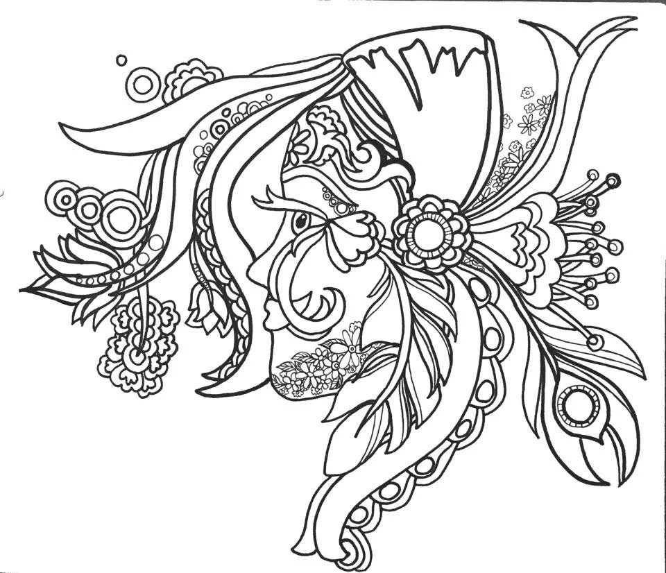 Items similar to 15 ColoringPages FunFancyFunkyFaces Vol.1