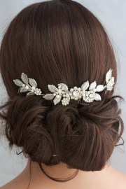 antique silver wedding hair accessory