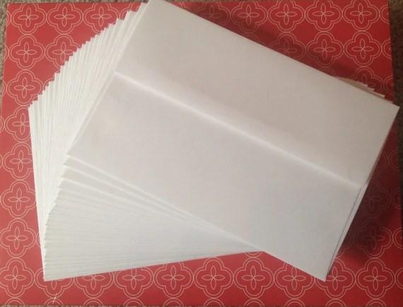 Envelopes White 5x7 Envelopes Wedding By Missstickerjunkie