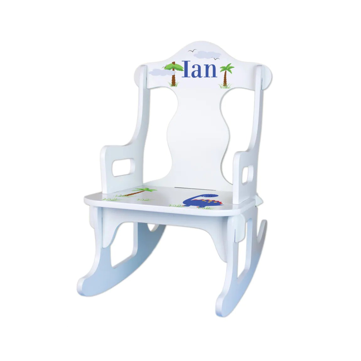 toddler white rocking chair van captain chairs personalized kids custom by wizkickgifts