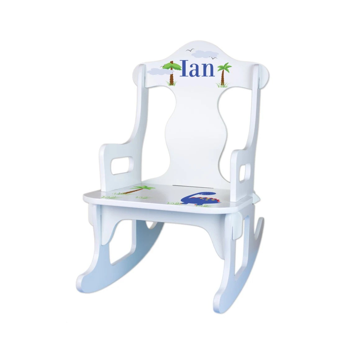 personalized rocking chair for toddlers wheelchair motor kids custom white by wizkickgifts