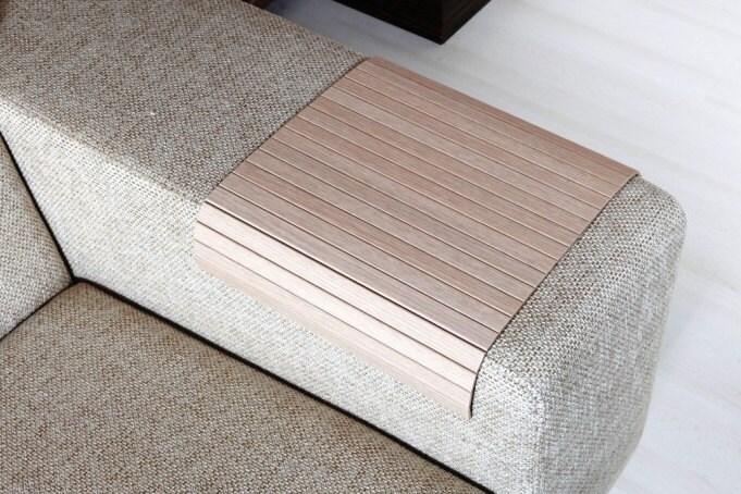 sofa arm tray wood prague 2 seater fabric table oak tree armrest by ...