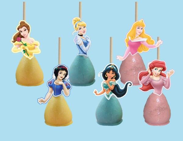 Disney Princess Cake Pop Toppers Cupcake