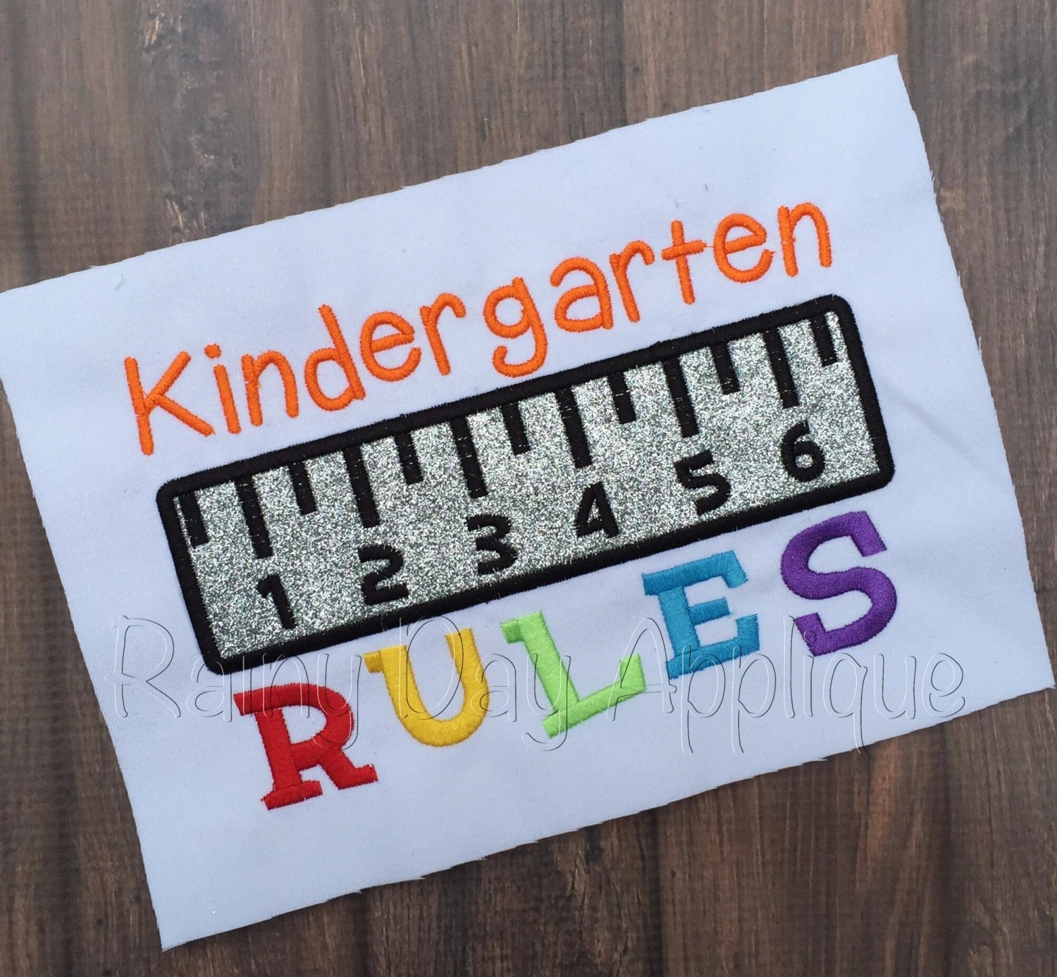 Kindergarten Applique Design Kindergarten Rules Applique