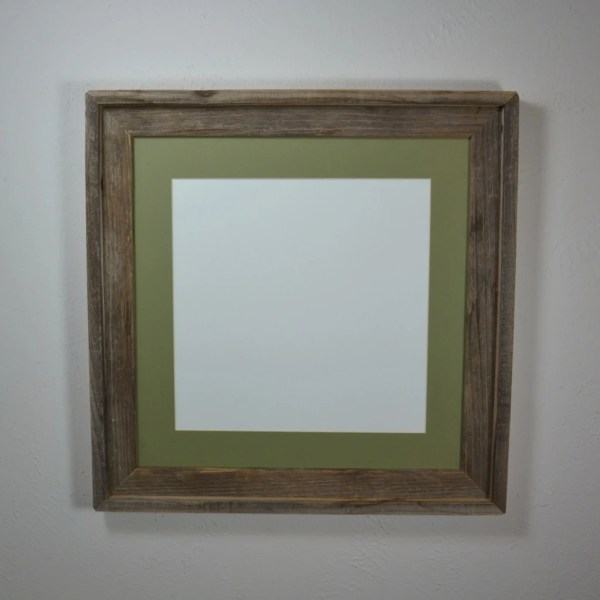 16x16 Frame With 12x12 14x14 Mat Reclaimed