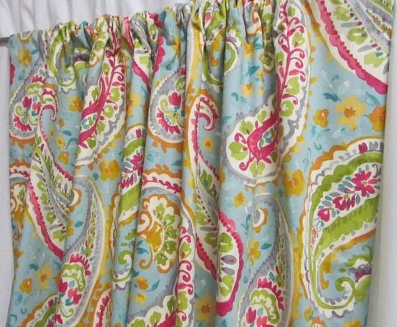 Turquoise Paisley Curtains Girls Bedroom Decor Tween