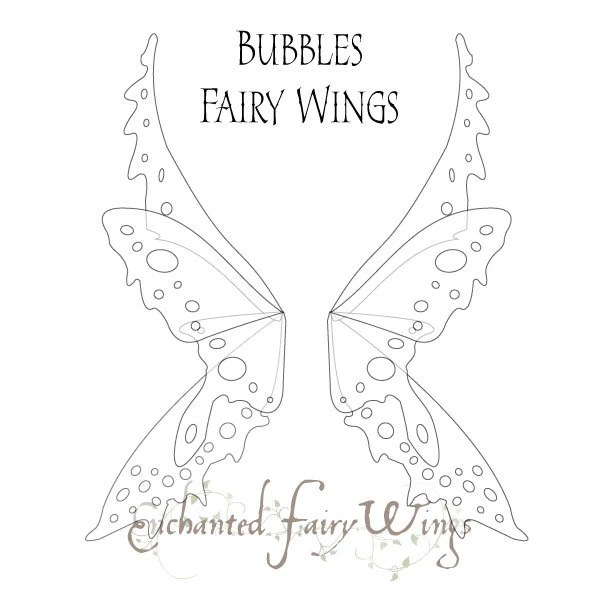 PATTERN and tutorial for Adult fairy wings Thalia Large